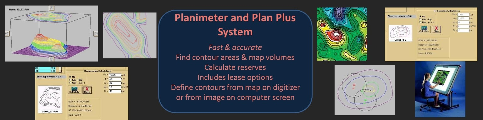 Planimeter software for the oil industry
